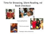 time for browsing silent reading nd book checkout