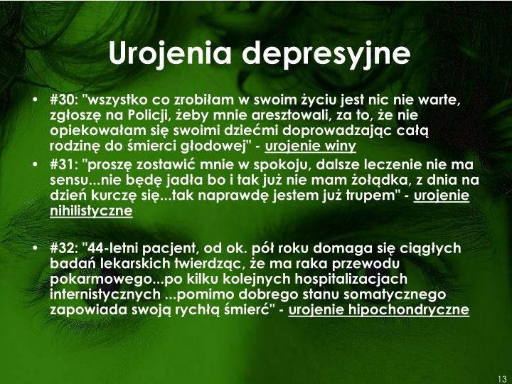 Urojenia depresyjne