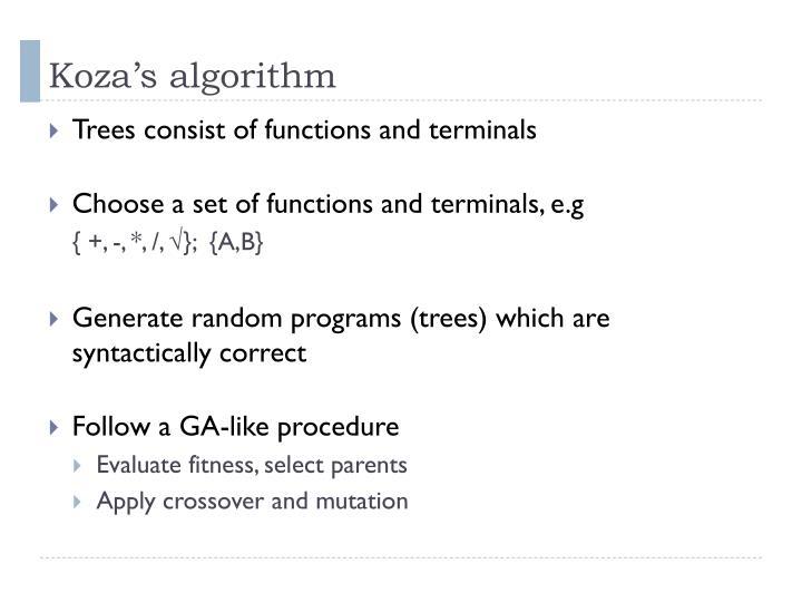Koza's algorithm