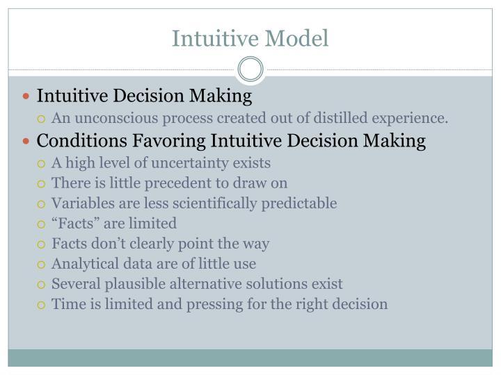 Intuitive Model