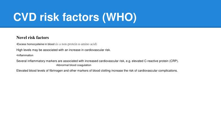 CVD risk factors (WHO)