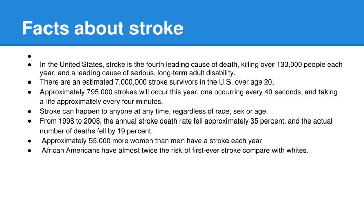 Facts about stroke