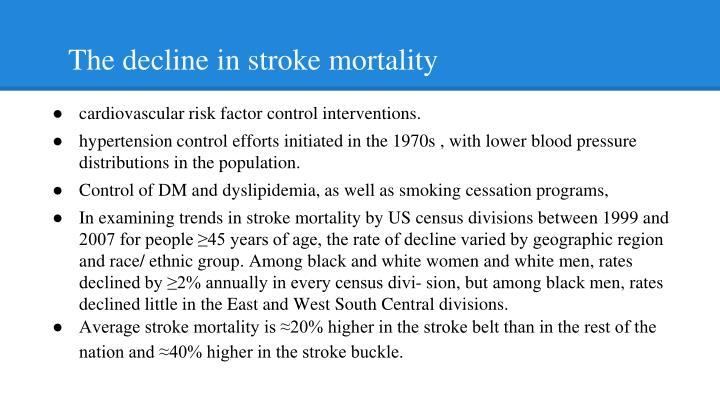 The decline in stroke mortality