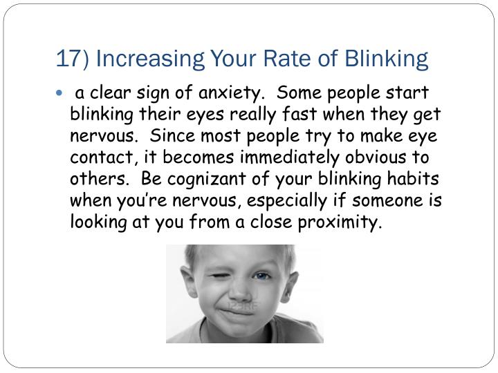 17) Increasing Your Rate of Blinking