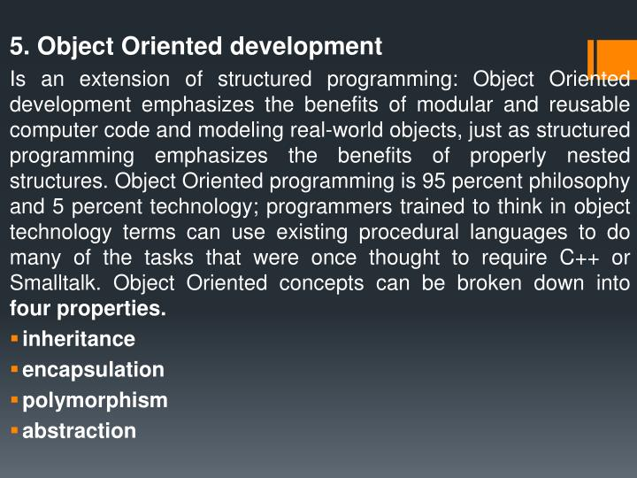 5. Object Oriented
