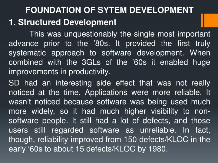 FOUNDATION OF SYTEM DEVELOPMENT