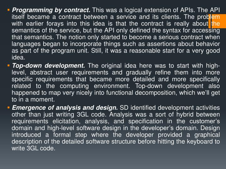 Programming by contract.