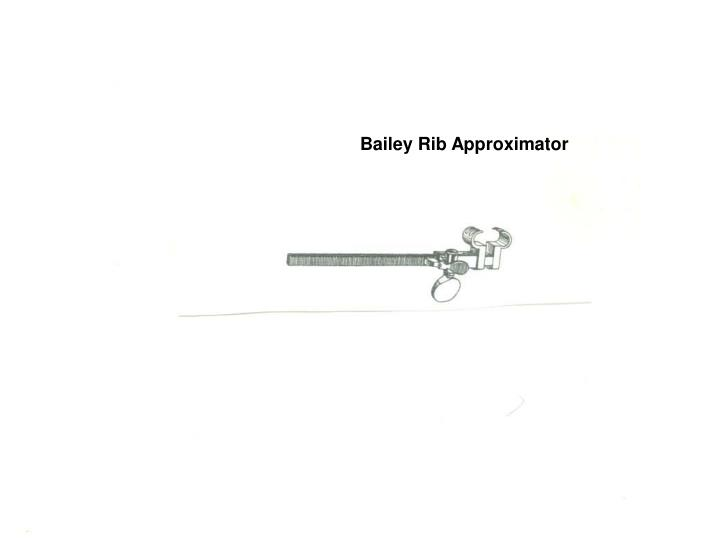 Bailey Rib Approximator