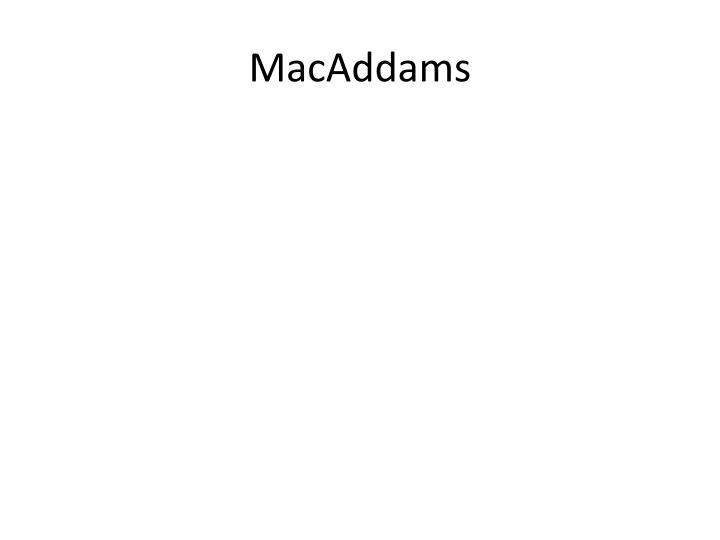 MacAddams