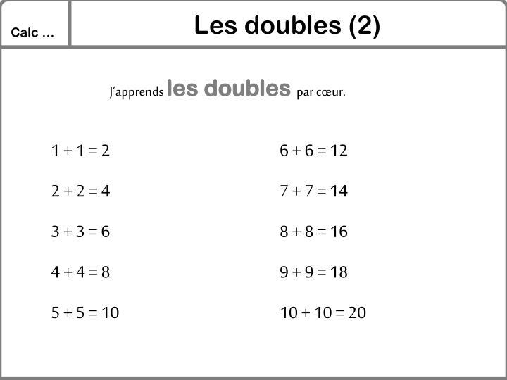 Les doubles (2)