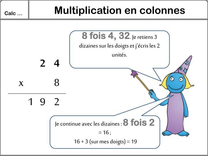 Multiplication en colonnes