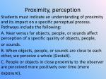 proximity perception
