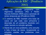 aplica es de rbc prud ncio 2002