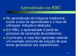 aprendizado em rbc
