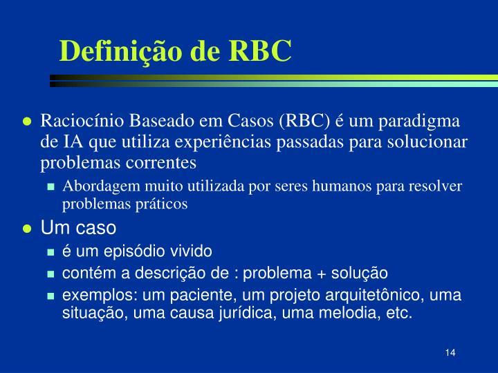 Definição de RBC
