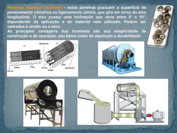 Peneiras rotativas (