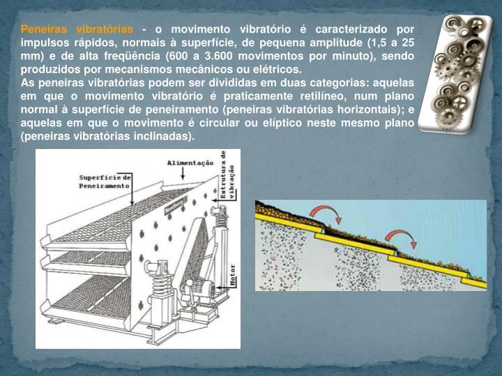 Peneiras vibratórias