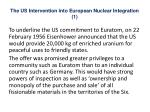 the us intervention into european nuclear integration 1