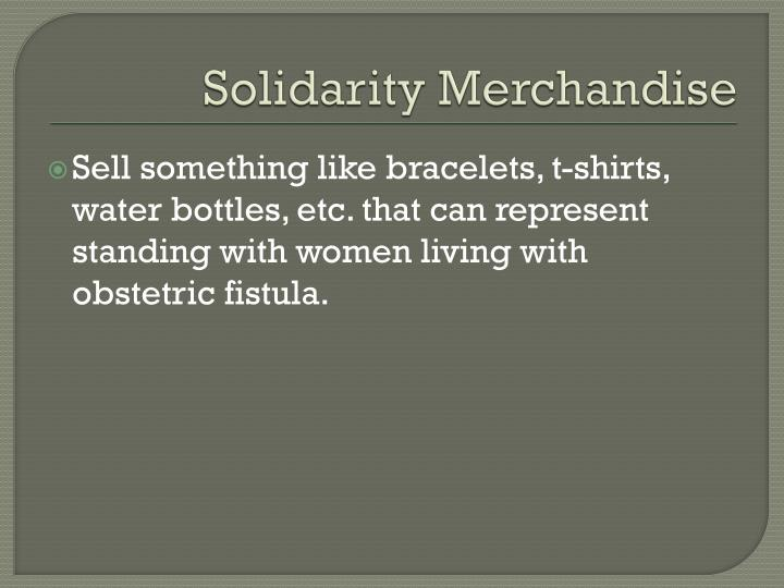 Solidarity Merchandise