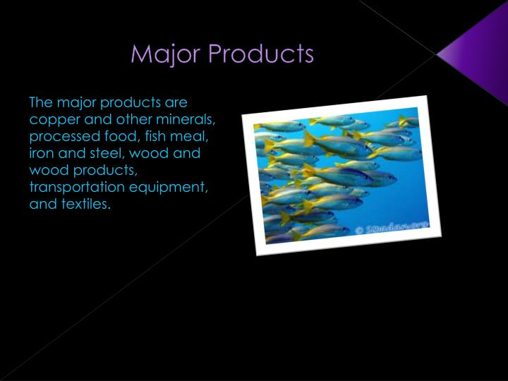 Major Products