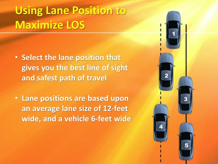 Using Lane Position to Maximize LOS
