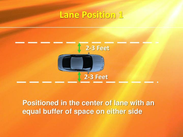 Lane Position 1