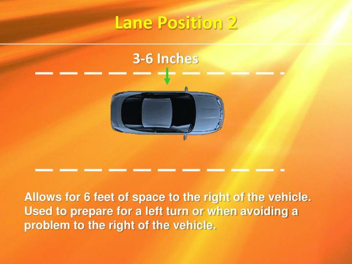 Lane Position 2