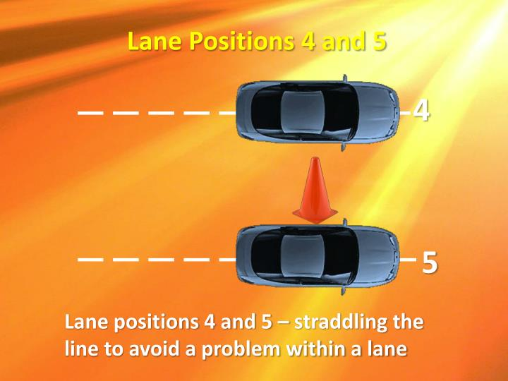 Lane Positions 4 and 5
