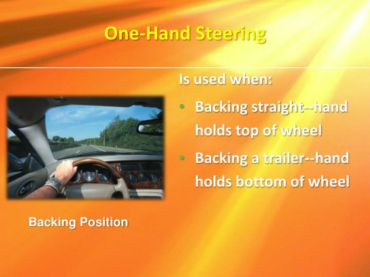 One-Hand Steering