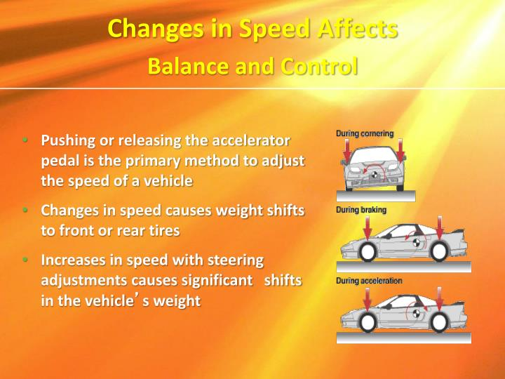 Changes in Speed Affects