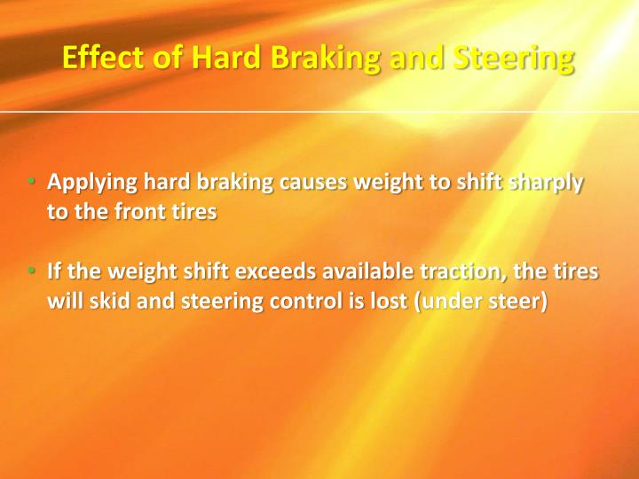 Effect of Hard Braking and Steering