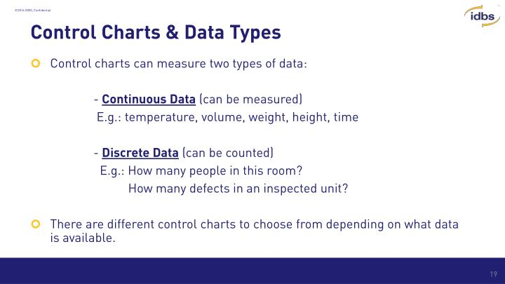 Control Charts & Data Types