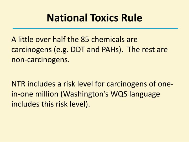 National Toxics Rule