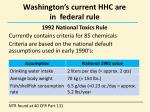 washington s current hhc are in federal r ule