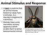 animal stimulus and response