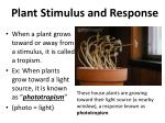 plant stimulus and response1