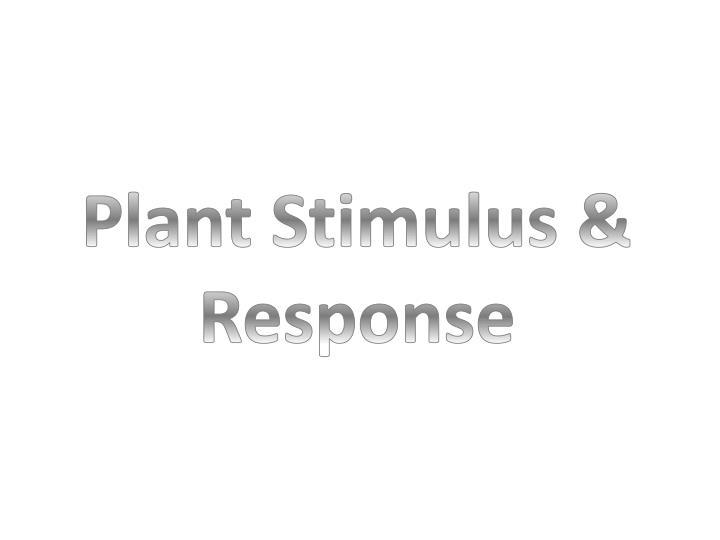 Plant Stimulus & Response