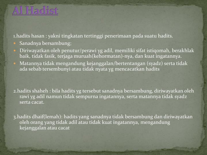 Al Hadist