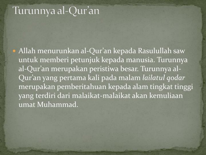 Turunnya al-Qur'an