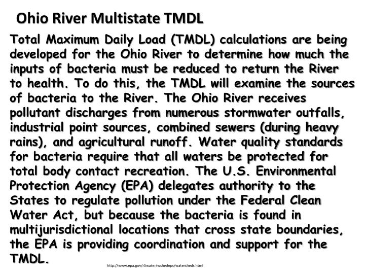 Ohio River Multistate TMDL