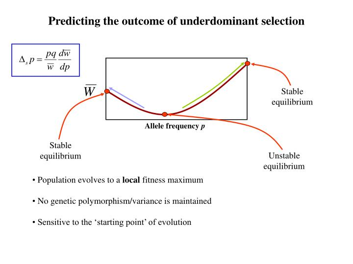 Predicting the outcome of underdominant selection