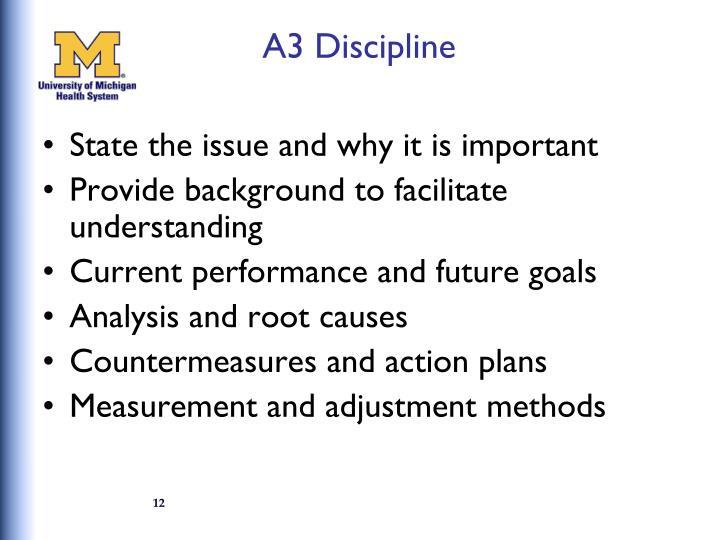 A3 Discipline