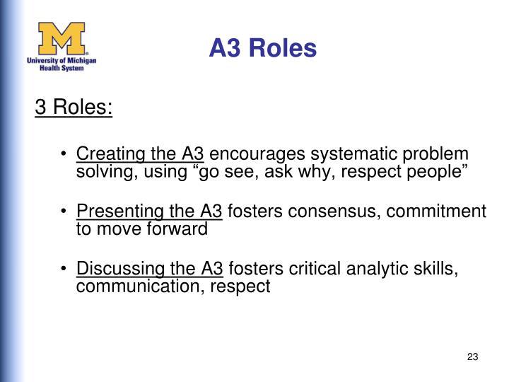 A3 Roles