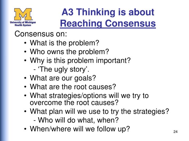 A3 Thinking is about
