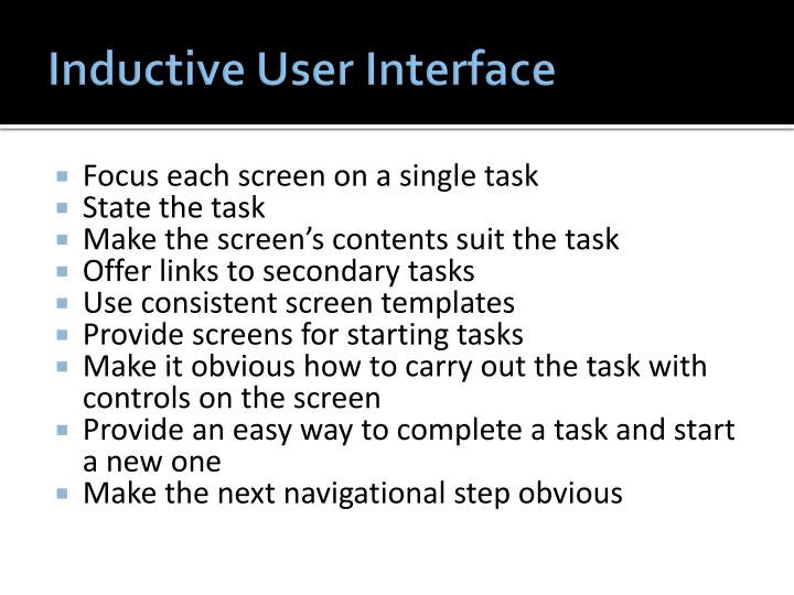 Inductive User Interface