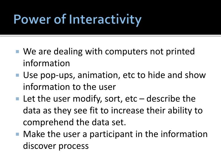 Power of Interactivity