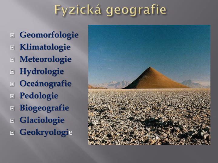 Fyzická geografie