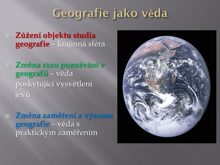 Geografie jako věda