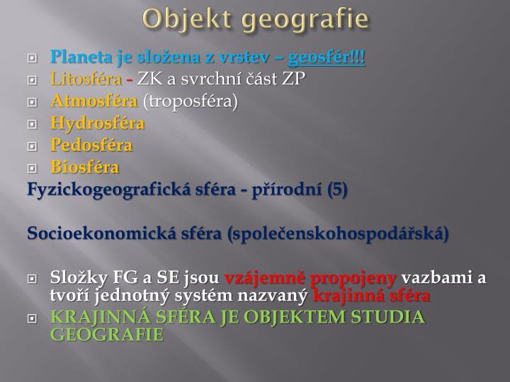 Objekt geografie