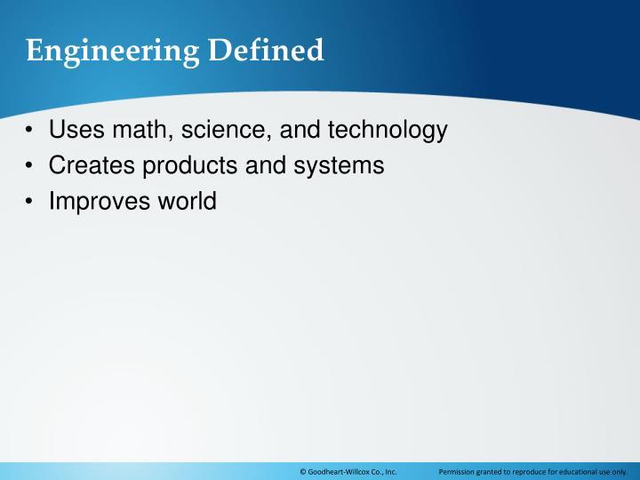 Engineering Defined